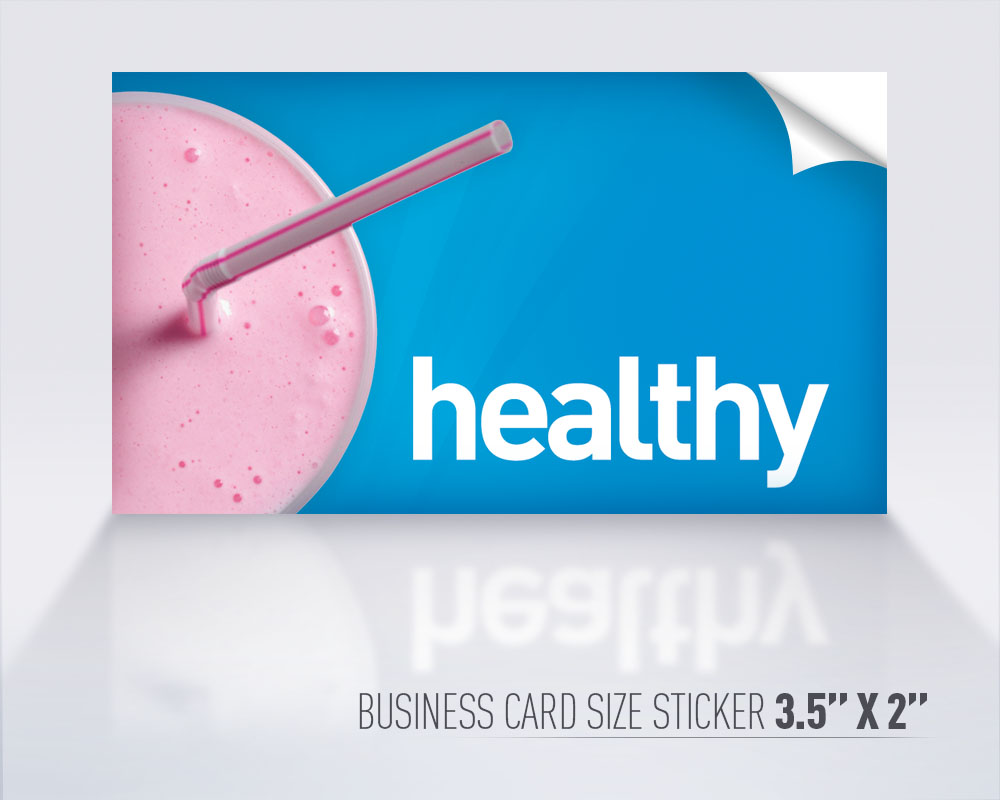 Features for Business cards stickers